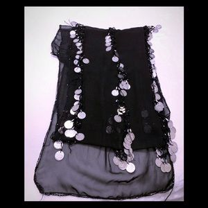 Black Belly Dancing Skirt
